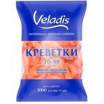 Креветки Veladis неразобранные глазированные варено-мороженные 70/90 1кг
