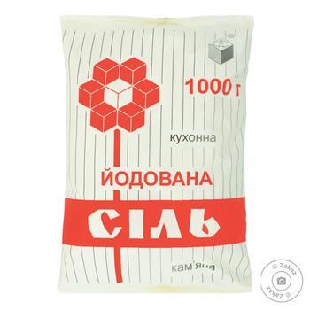 Соль каменная Артемсоль пищевая йодированная 1кг - купить, цены на Novus - фото 1
