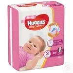 Подгузники Huggies Ультра Комфорт Girl 3 5-9кг 20шт