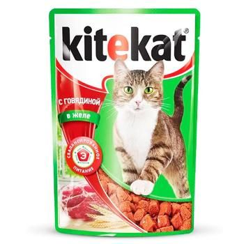 Корм для взрослых котов Kitekat с говядиной в желе 100г - купить, цены на Ашан - фото 2