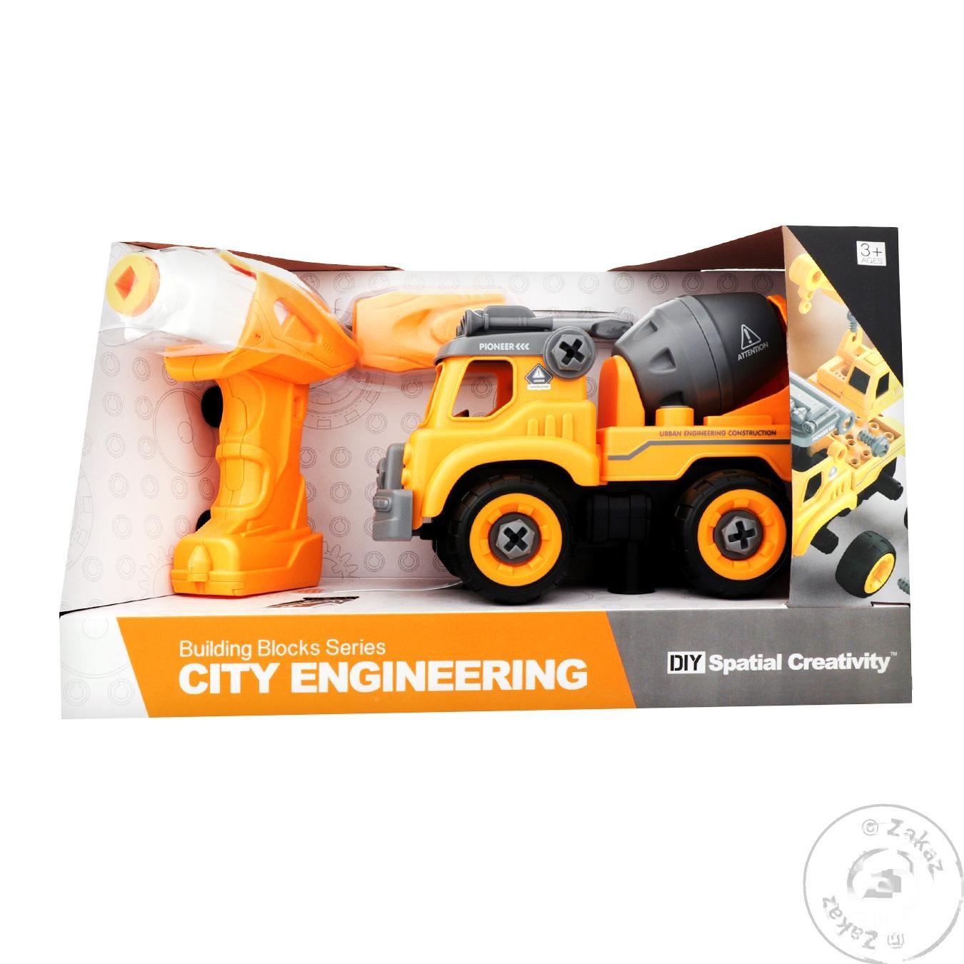 Игрушка конструктор Qunxing Toys строительная техника