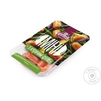 Bashinskiy Mini sausages with chicken fillet 350g
