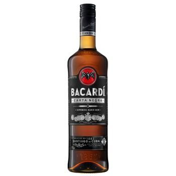 Bacardi Carta Negra Dark Rum 40% 0,7l