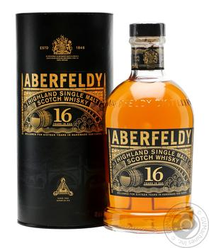 Виски Aberfeldy 16 лет 0,7л в тубусе - купить, цены на Novus - фото 1