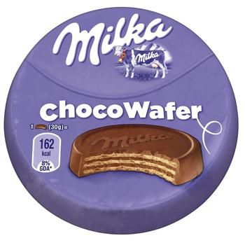 Milka with Cocoa Filling Milk Chocolate Waffer 30g