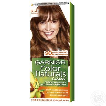 Крем-фарба для волосся Garnier Color Naturals 6.34 Карамель - купити, ціни на Ашан - фото 1