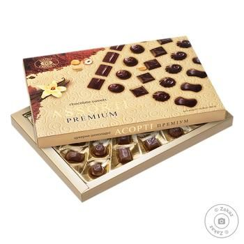 Конфеты шоколадные ХБФ Бисквит-Шоколад Ассорти премиум 300г