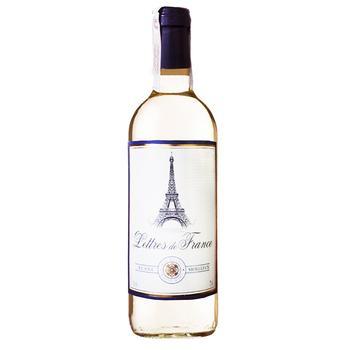 Вино біле Летр де Франс Блан Муалле напівсолодке 11% скляна пляшка 750мл Франція - купити, ціни на Ашан - фото 1