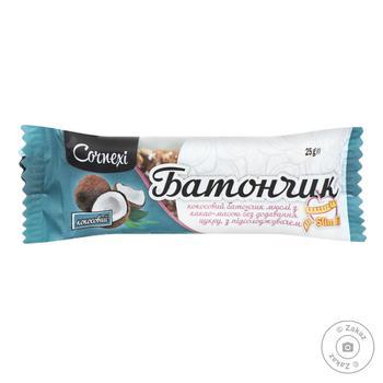 Батончик мюсли кокосовий з какаомасою без цукру Cornexi 25г - купить, цены на Novus - фото 1