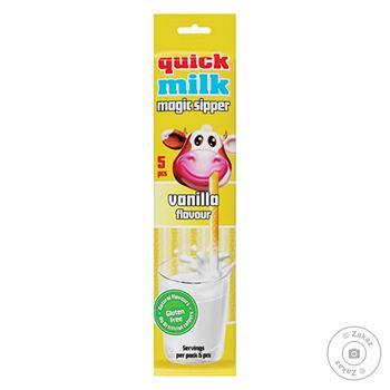 Трубочка Quick Milk до молока зі смаком ванилі 5шт 30г - купити, ціни на Восторг - фото 1
