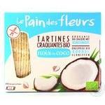 Хлебцы Le Pain des fleurs с кокосом хрустящие органические безглютеновые 150г