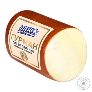 Сыр колбасный копченый Наш Молочник Гурман нарезанный 30%