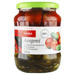Огірки та томати Marka Promо Асорті мариновані 680г