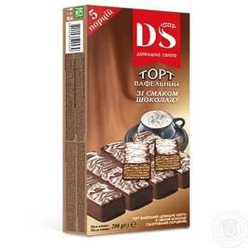 Торт вафельный Домашне свято шоколадный 200г