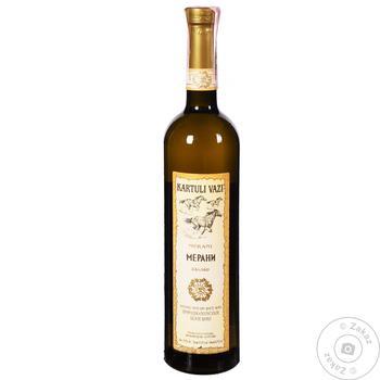 Вино Kartuli Vazi Мерани белое полусухое 0,75л