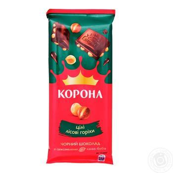 Korona Extra Dark Chocolate With Whole Hazelnuts - buy, prices for Novus - image 1