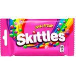 Драже Skittles Дикие ягоды жевательные в разноцветной сахарной оболочке 38г
