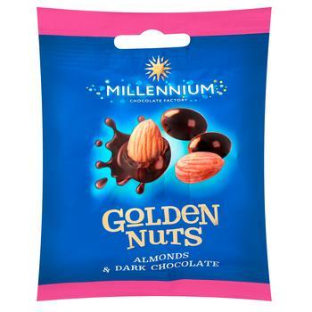 Millennium Golden Nuts Almonds Dragee in Dark Chocolate 50g - buy, prices for CityMarket - photo 1