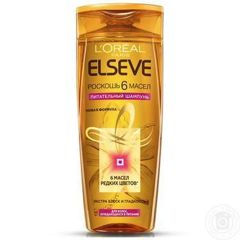 Elseve Shampoo Luxury 6 oils nourishing oils for all hair types 400ml - buy, prices for  Vostorg - image 4