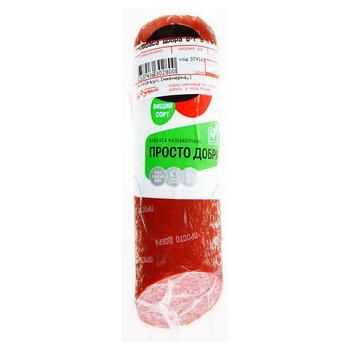 Колбаса Глобино Просто Добра полукопченая - купить, цены на Фуршет - фото 1