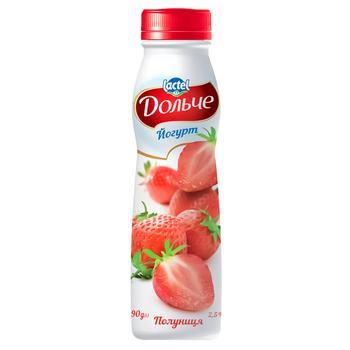 Йогурт Дольче клубника 2,5% 290г
