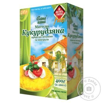 Corn porridge Vasha Kasha quick-cooking 400g - buy, prices for EKO Market - photo 1