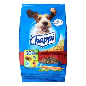 Корм для собак Chappi сухий яловичина птиця 500г - купити, ціни на CітіМаркет - фото 1