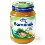 Puree Hamanek rabbit with spinach for children from 4 months 190g glass jar