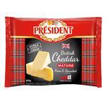 Сыр чеддер President выдержан 48% 200г