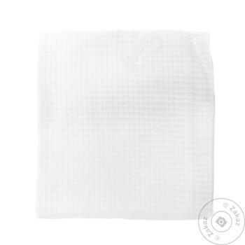 Полотенце Ярослав вафельное белое 45х75см - купить, цены на Метро - фото 1