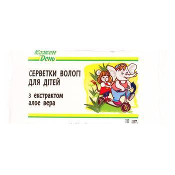 Napkins Kozhen den Auchan with aloe vera for children - buy, prices for Auchan - image 4