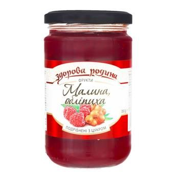 Zdorova Rodyna Grated Raspberries and Sea Buckthorn with Sugar 350g - buy, prices for CityMarket - photo 1