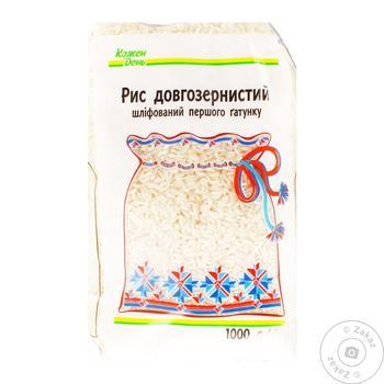 Рис Каждый день длиннозерный шлифованный 1кг - купить, цены на Ашан - фото 1