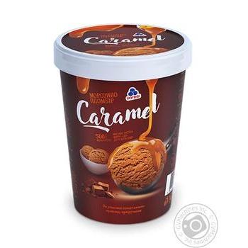 Мороженое Рудь Caramel пломбир в ведре 500г