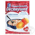 Каша овсяная Овсянушка с абрикосом и сливками 45г