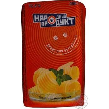 Спред Народный продукт сладкосливочный 72,5% 200г