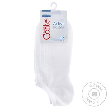 Носки женские Conte Elegant Active ультракороткие белые размер 25