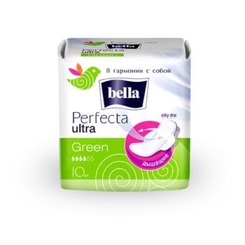 Pads Bella perfecta Perfecta green for women night 10pcs maxi