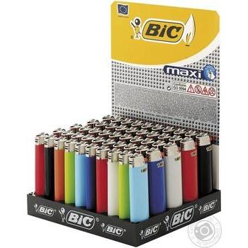 Зажигалка Bic Maxi J26 упаковка 50шт. - купить, цены на Метро - фото 1