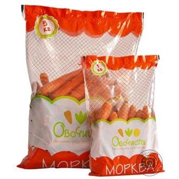Морковь мытая Овочиста упаковка 1кг