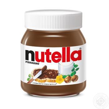 Ореховая паста Nutella с какао 350г - купить, цены на Novus - фото 1