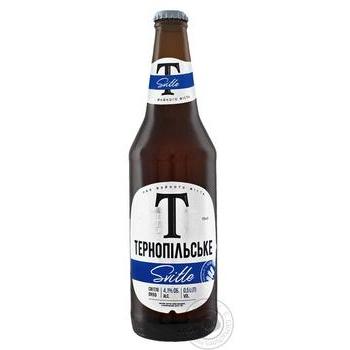Пиво Тернопільське светлое 4,1% 0,5л
