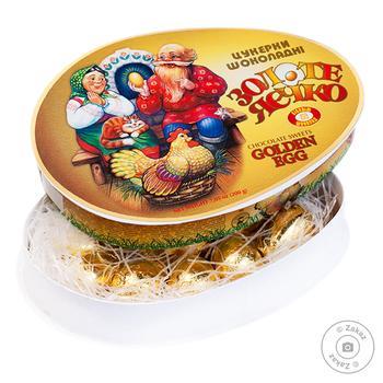 Конфеты Бисквит-Шоколад Золотое яичко 200г