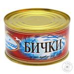 Бычки обжаренные Океанические в томатном соусе №5 230г - купить, цены на Фуршет - фото 1