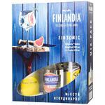 Set of vodka Finlandia Grapefruit 37,5% 0,5l + Schweppes tonic 2 * 0,33l in gift packing
