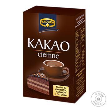 Какао Kruger натуральне темне 80г - купити, ціни на Фуршет - фото 1