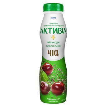 Біфідойогурт Активіа вишня-чіа 1,5% 290г - купити, ціни на Метро - фото 1