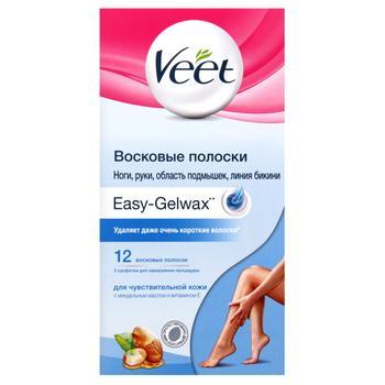 Veet Hair Removal Wax Strips for Sensitive Skin 12pcs