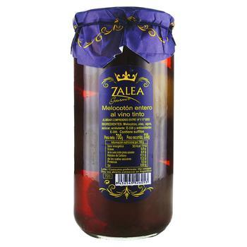 Персик Zalea цілий з кісточкою в червоному вині 700г - купить, цены на Novus - фото 1