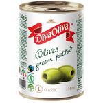 Оливки Diva Oliva зеленые без косточки 300г